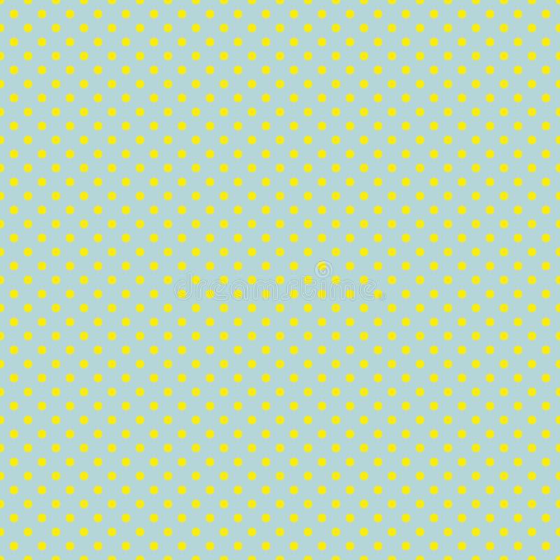 Le modèle de point de polka Illustration sans couture de vecteur avec les cercles ronds, points Jaune et menthe illustration stock