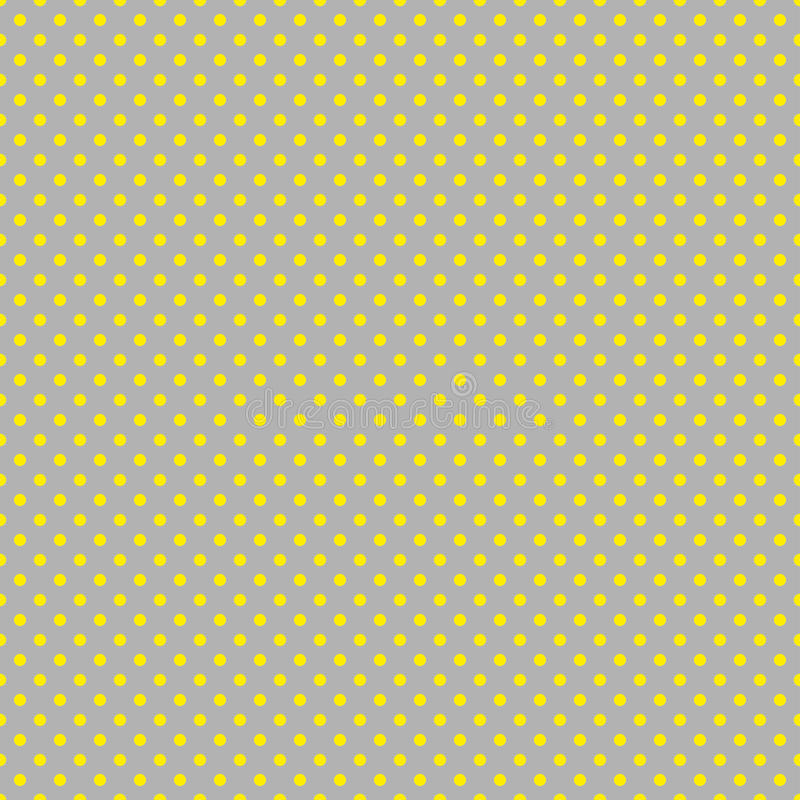 Le modèle de point de polka Illustration sans couture de vecteur avec les cercles ronds, points Jaune et taupe illustration stock