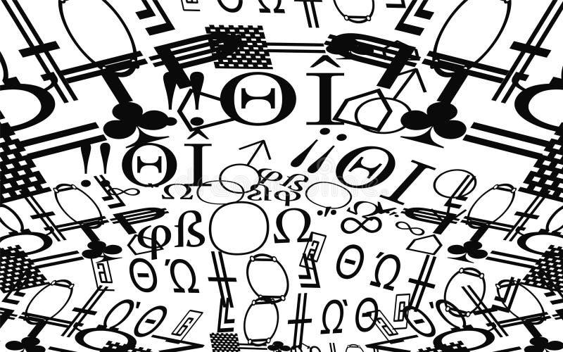 Le modèle des symboles un simple image libre de droits