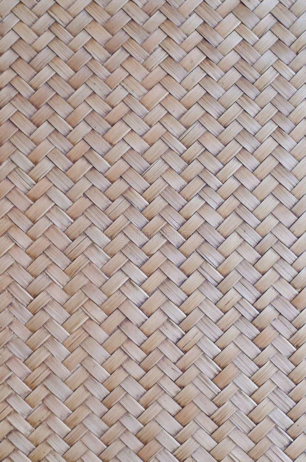 Le modèle du bambou thaïlandais de style handcraft le fond de texture image libre de droits