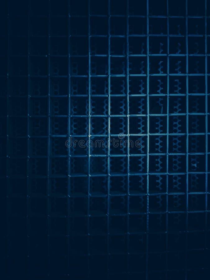 Le modèle du métal est une ligne droite intersectant, ayant pour résultat une forme rectangulaire images libres de droits