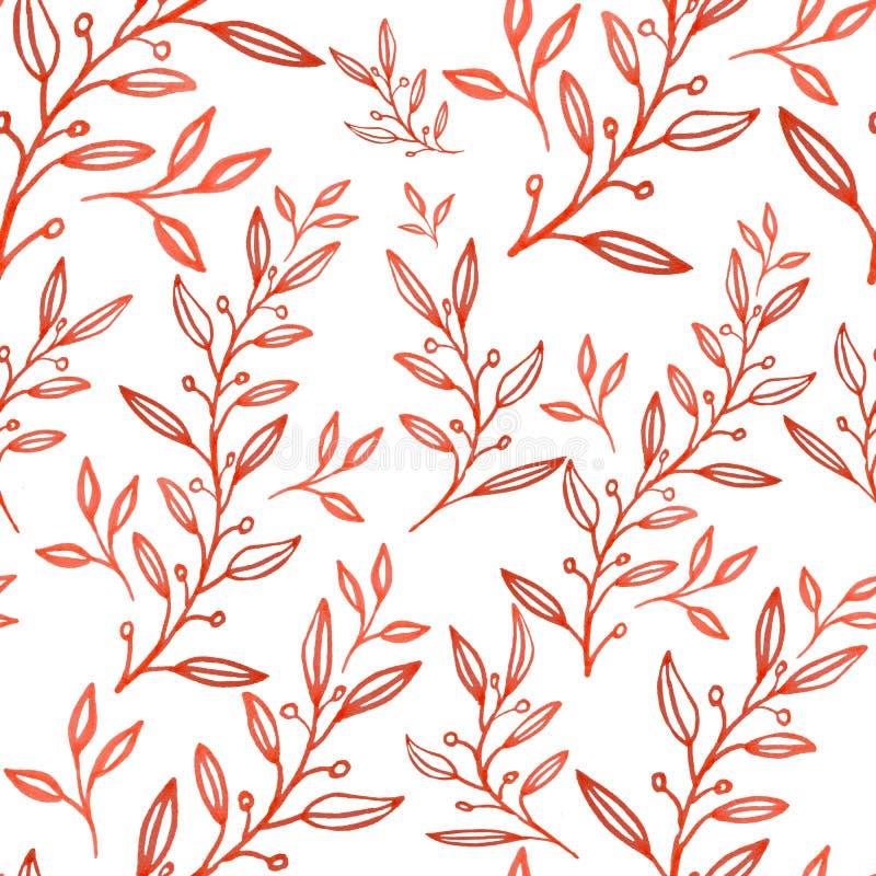 Le modèle floral abstrait sans couture, illustration tirée par la main peut être employé pour l'impression de tissus ou le fo illustration stock