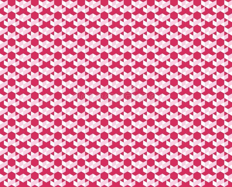 Le modèle géométrique abstrait de couleurs roses modifie la tonalité - dirigez l'illustration illustration stock