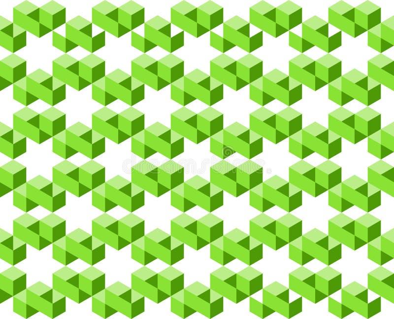 Le modèle géométrique de couleurs vertes d'isolement sur le fond blanc, disposé en étoile forme l'illustration de vecteur, l'EPS1 illustration stock