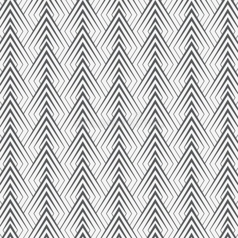 Le modèle géométrique de vecteur, répétant les triangles linéaires décore graphique nettoient pour la copie, papier peint, fond illustration libre de droits