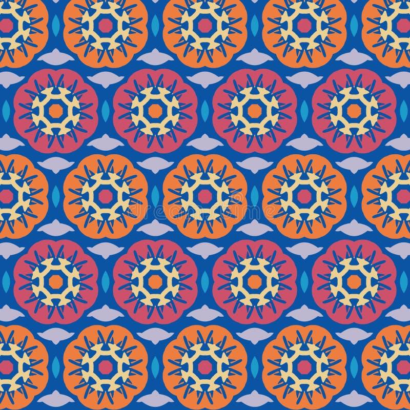 Le modèle géométrique floral abstrait de Netrivail, fond, dirigent sans couture illustration de vecteur