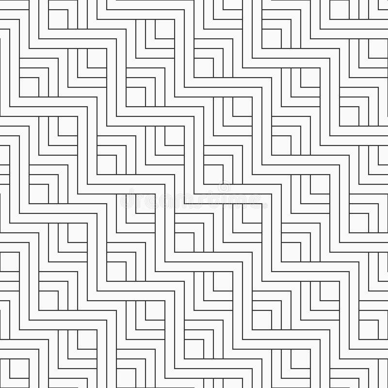Le modèle géométrique sans couture abstrait du parallèle de zigzag raye illustration libre de droits