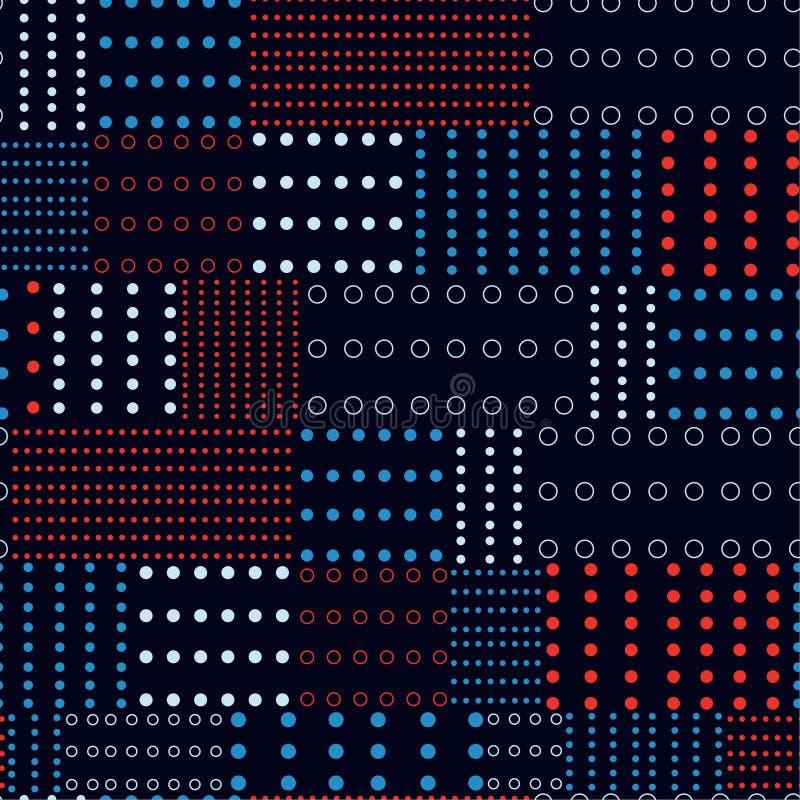 Le modèle moderne de mélange de points de polka imprime le vecteur sans couture pour la mode illustration stock