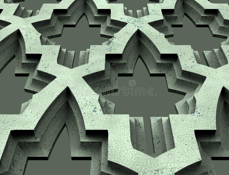 Le modèle pour les mots, logo, emblème, affaires, talisman, prévision, avenir, ornement, noir, en bois, en bois, objet façonné, b illustration libre de droits