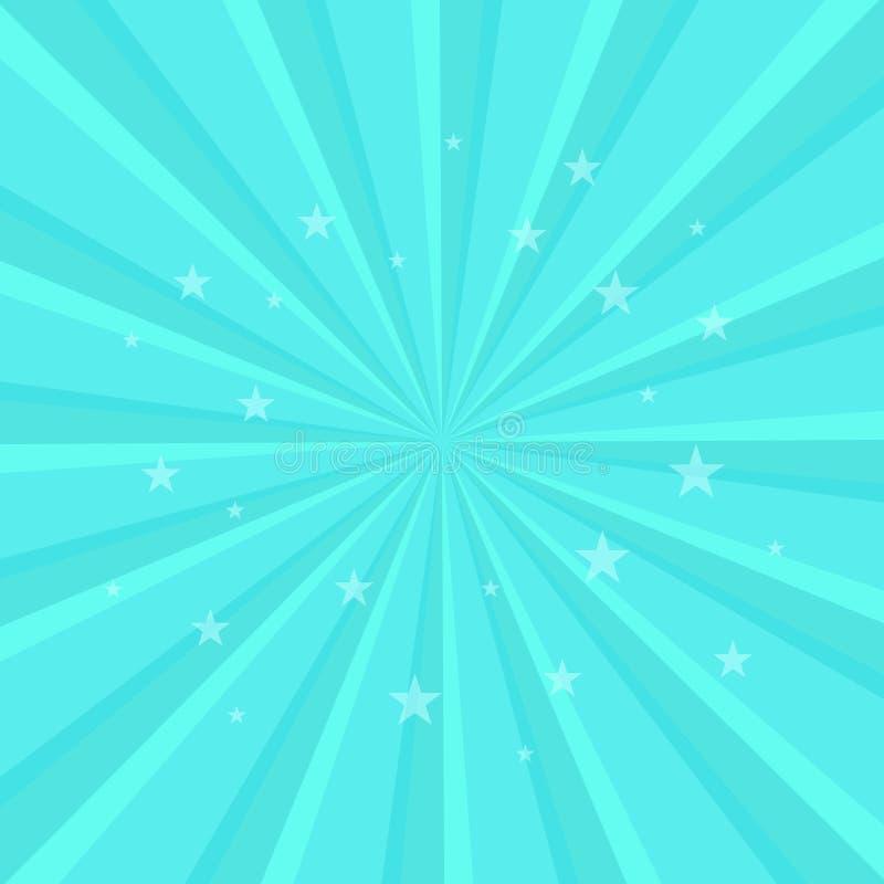 Le modèle radial de tourbillonnement tient le premier rôle le fond Place de pirouette de spirale de starburst de vortex Rayons de illustration libre de droits
