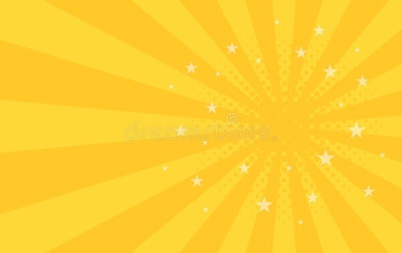 Le modèle radial de tourbillonnement tient le premier rôle le fond Place de pirouette de spirale de starburst de vortex Rayons de illustration stock