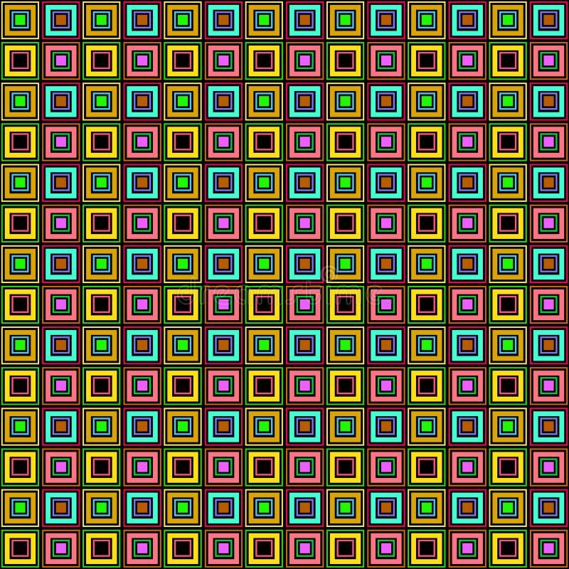 Le modèle raye des boîtes beaucoup colorfull illustration de vecteur