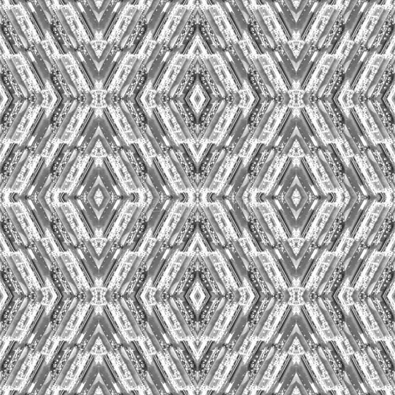 Le modèle sans couture abstrait avec les rayures et le verre chute sous les formes géométriques Fond de mosaïque Ornement contemp illustration libre de droits