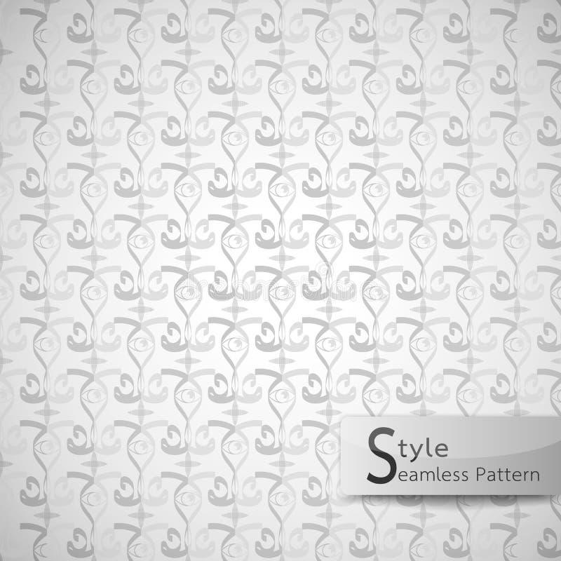 Le modèle sans couture abstrait observe le monochrome plus la maille textu blanc illustration libre de droits