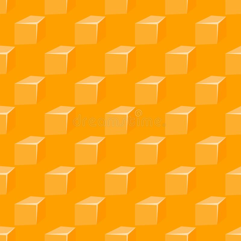 Le modèle sans couture avec le fond jaune de petit déjeuner d'édam de lait de fromage et de cheddar de trous conçoivent Illustrat illustration de vecteur