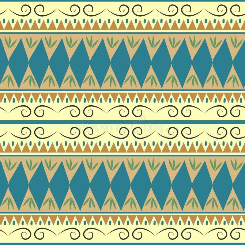Le modèle sans couture coloré aztèque avec l'Asiatique de Bohème de motif tribal ethnique barre la conception faite main tirée pa illustration libre de droits