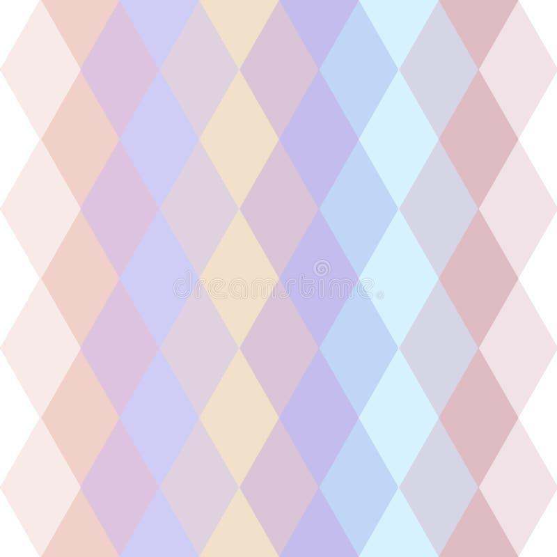 Le modèle sans couture de hippies abstraits avec le pastel lumineux a coloré le losange Fond géométrique Vecteur illustration libre de droits