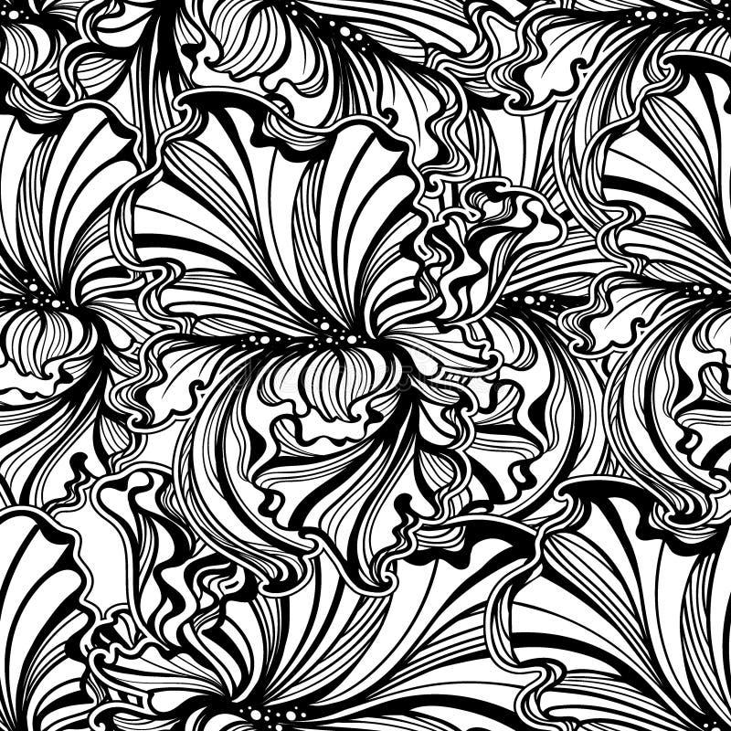 Le modèle sans couture irise Art Nouveau illustration stock