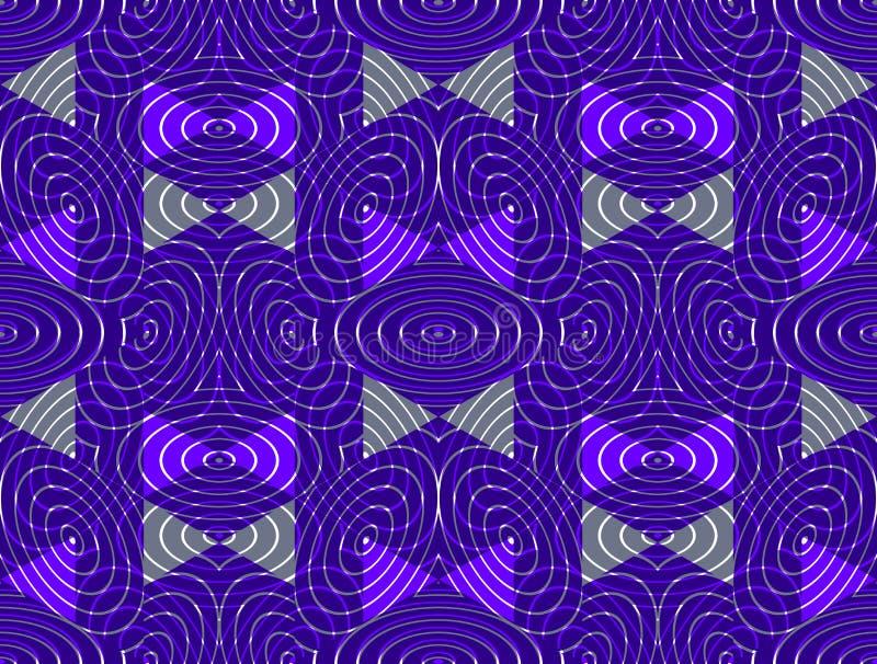 Le modèle sans fin coloré régulier avec entrelacent la trois-dimension illustration stock