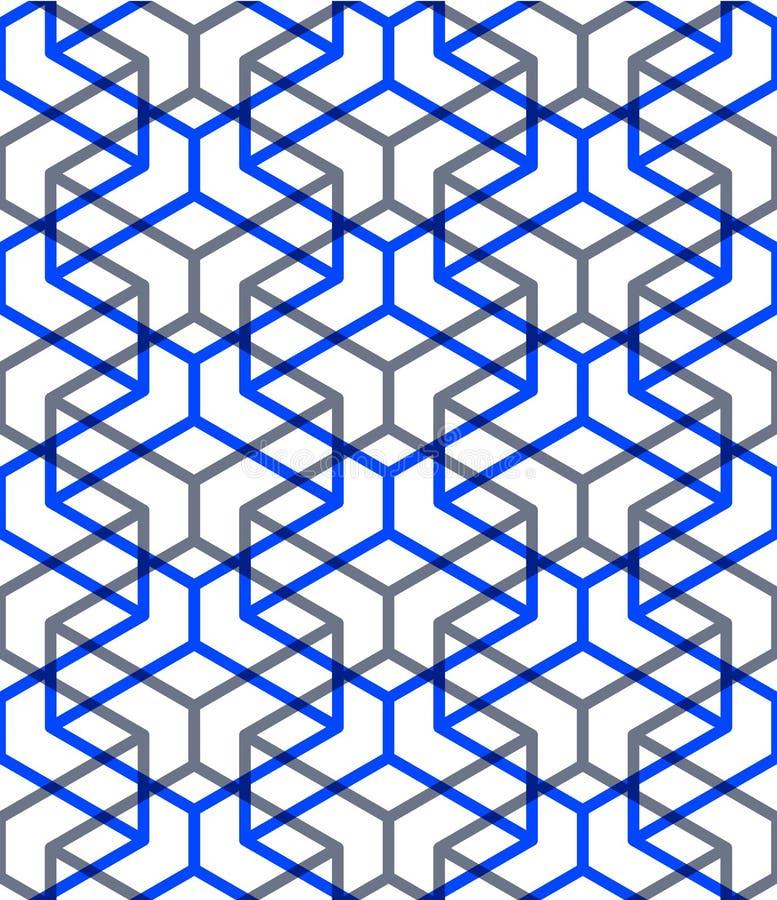 Le modèle sans fin coloré régulier avec entrelacent la trois-dimension illustration libre de droits