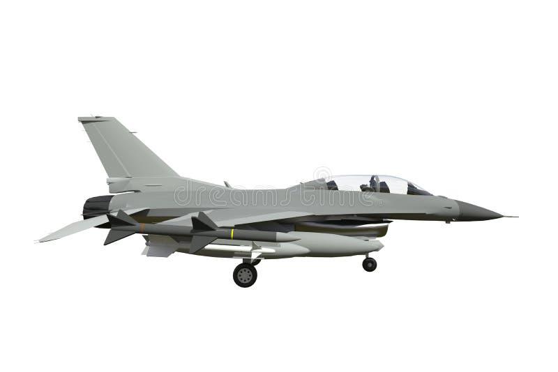 Le modèle tridimensionnel d'un avion militaire des pays de l'OTAN Avions avec de pleines munitions L'armement de l'aircr illustration libre de droits