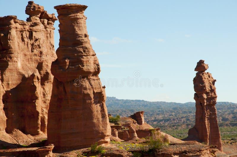 Le moine - parc national de Talampaya - l'Argentine image libre de droits