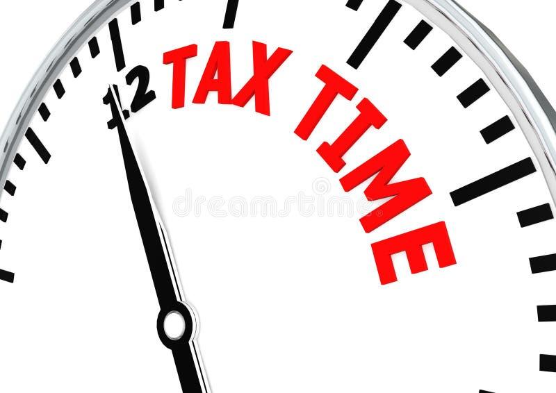 Le moment d'impôts vient illustration stock