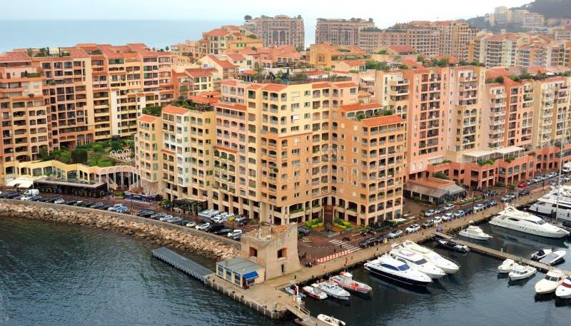 Le Monaco - secteur de Fontvieille d'architecture photographie stock libre de droits