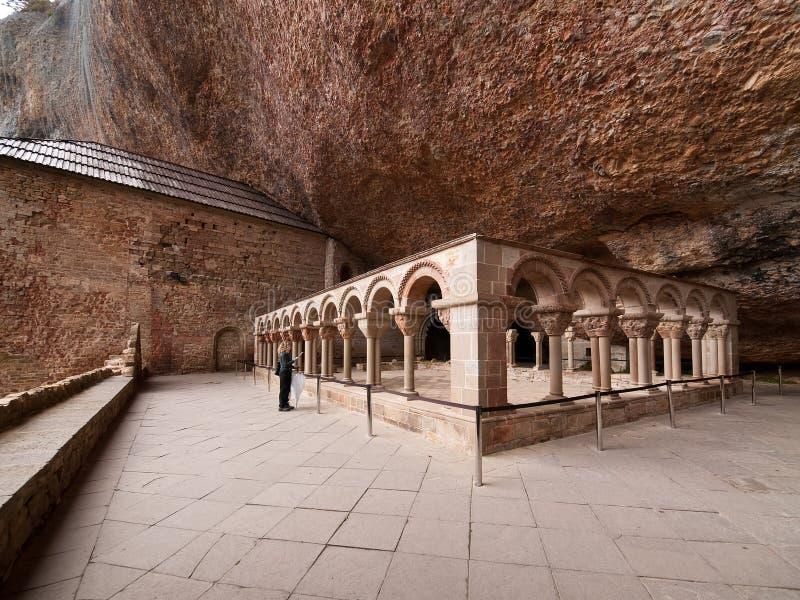 Le monastère cloître San Juan de La Pena image libre de droits