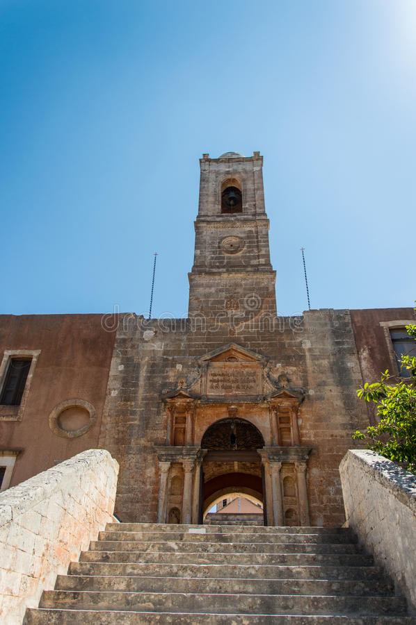 Le monastère d'Agia Triada en Crète, Grèce photos libres de droits