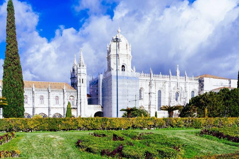 Le monastère de Jeronimos ou le monastère de Hieronymites est localisé dedans photographie stock