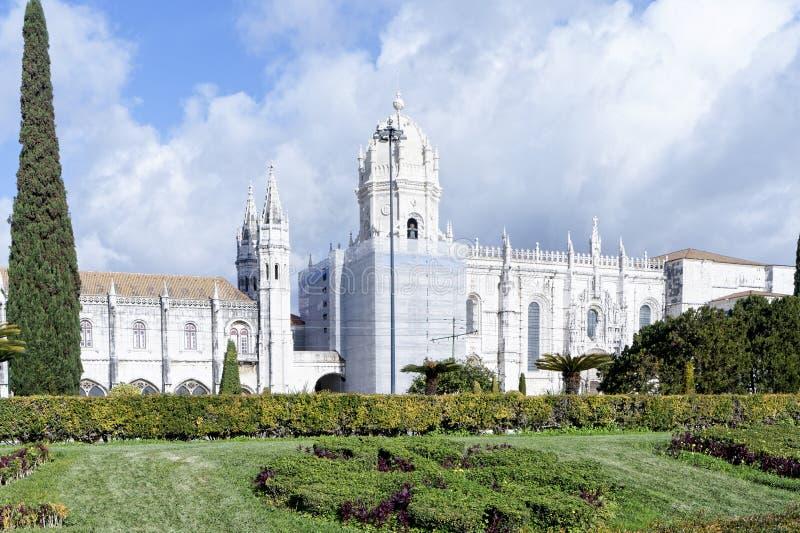 Le monastère de Jeronimos ou le monastère de Hieronymites est localisé dedans images stock