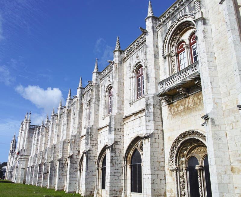 Le monastère de Jeronimos ou le monastère de Hieronymites est localisé dedans image libre de droits
