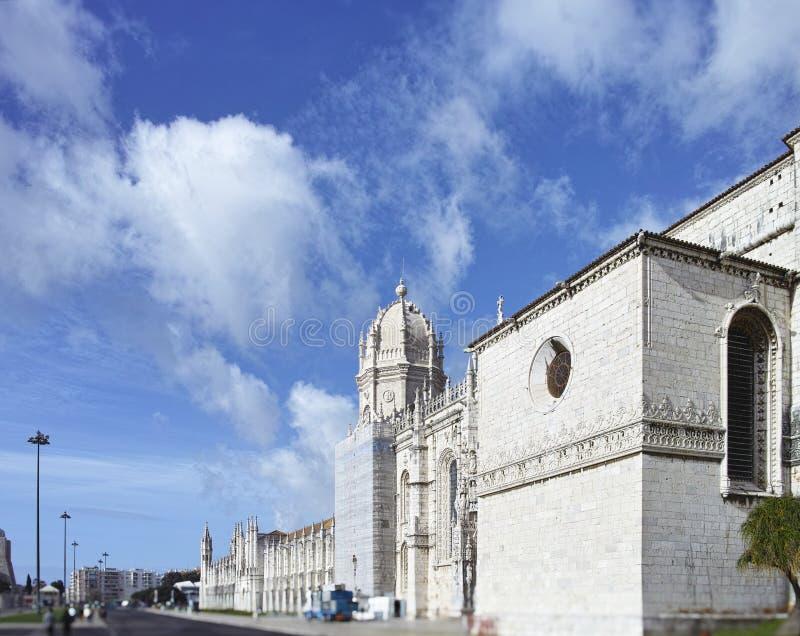 Le monastère de Jeronimos ou le monastère de Hieronymites est localisé dedans photo libre de droits