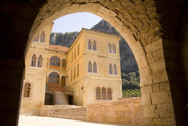 Le monastère de la rue Anthony de Qozhaya images libres de droits