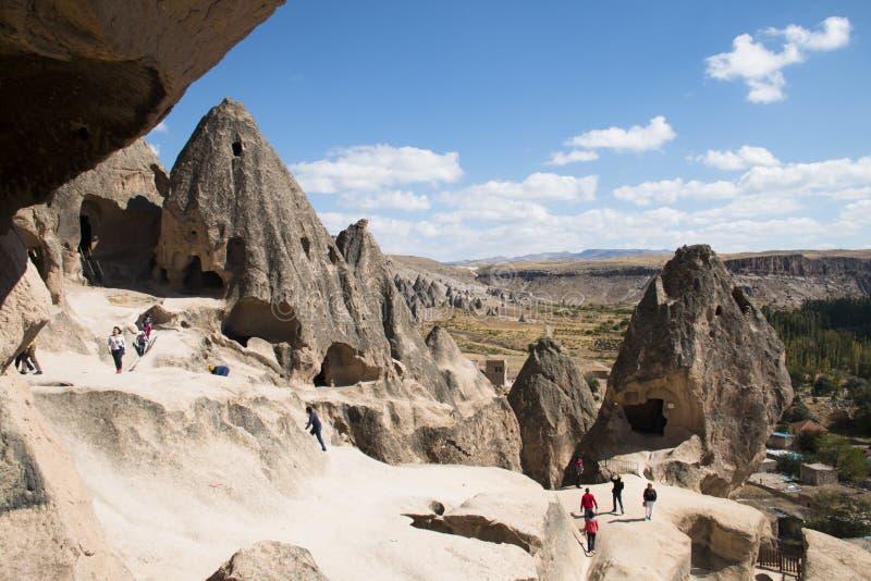 Le monastère de Selime dans Cappadocia, Turquie images libres de droits