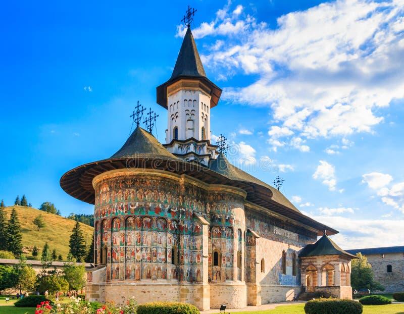 Le monastère de Sucevita, Roumanie images libres de droits