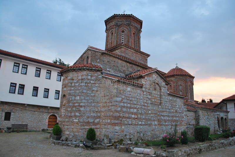 Le monastère de Sveti Naum dans Macédoine image libre de droits