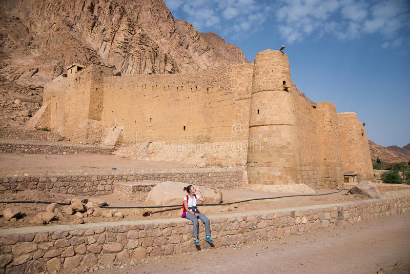 Le monastère du ` s de Catherine de saint se trouve sur la péninsule du Sinaï photos libres de droits
