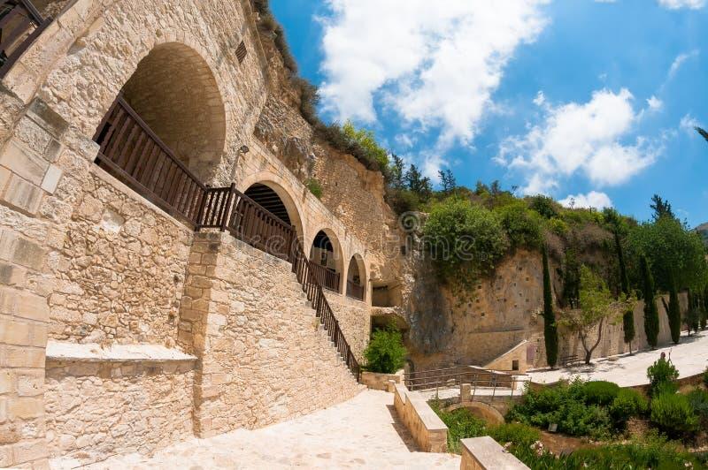 Le monastère du saint Neophytos Secteur de Paphos cyprus image libre de droits