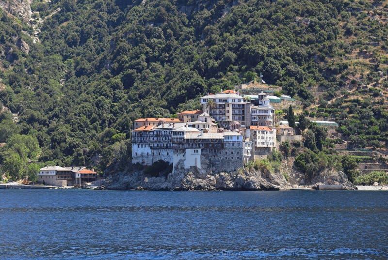 Le monastère orthodoxe de Grigorita sur Athos Peninsul photo libre de droits