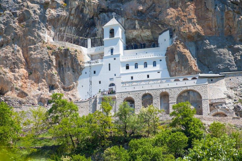 Le monastère Ostrog est un monastère de serbe image stock