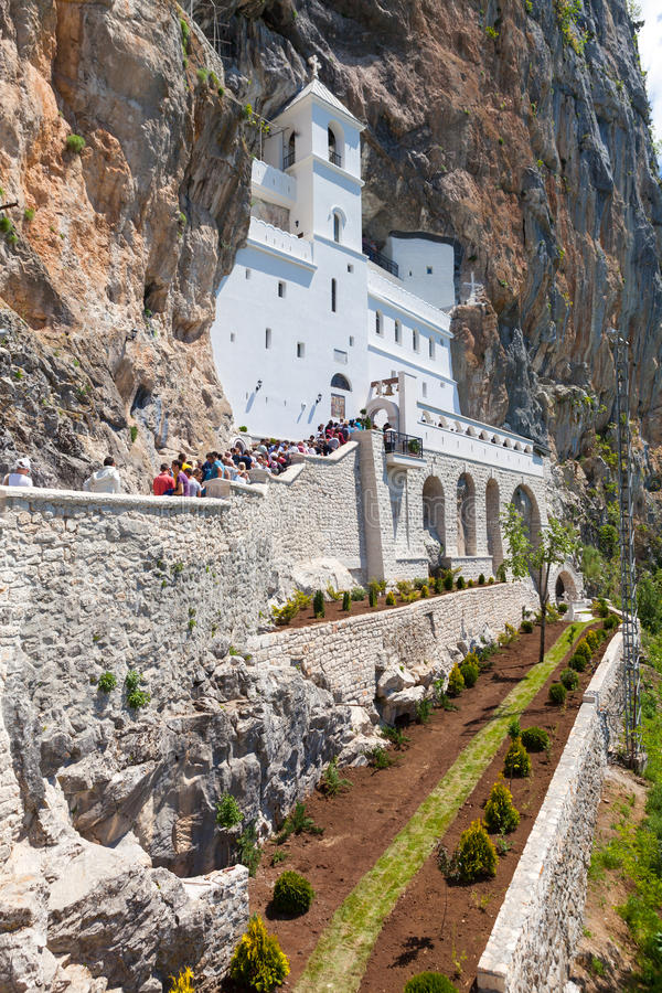 Le monastère Ostrog est un monastère de serbe photo stock