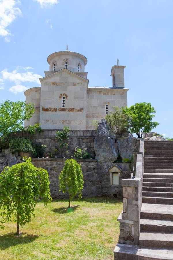 Le monastère Ostrog est un monastère de serbe images libres de droits
