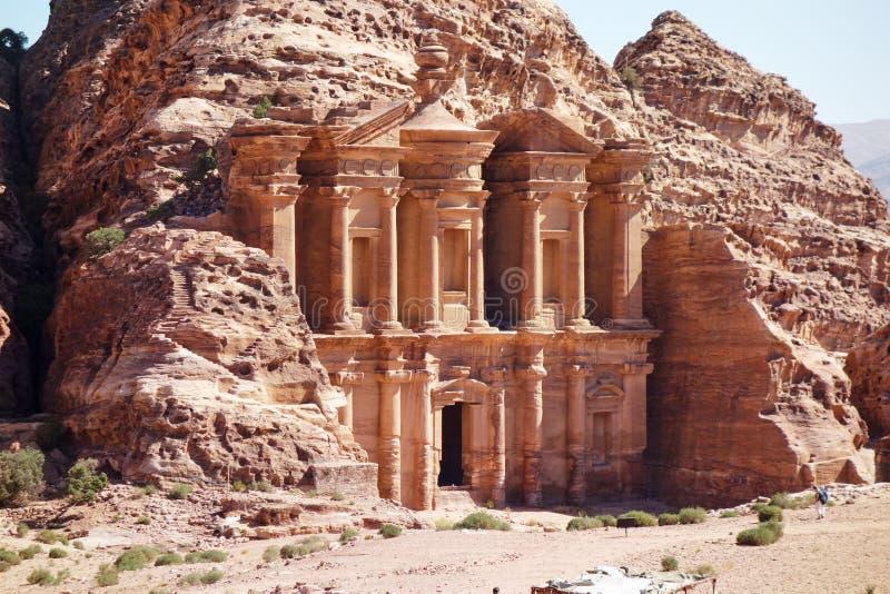 Le monastère, PETRA photographie stock libre de droits