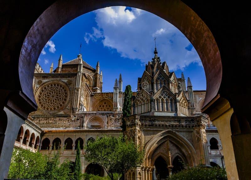 Le monastère royal de Santa MarÃÂa De Guadalupe, Caceres, Espagne images libres de droits