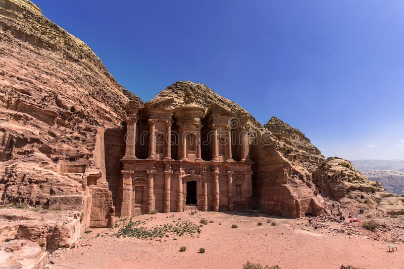 Le monast?re, PETRA, Jordanie images stock