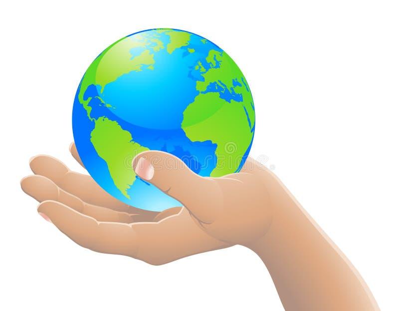 Le monde dans votre concept de main illustration de vecteur