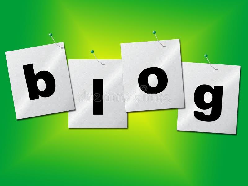 Le monde de blog indique la terre et des sites Web de site illustration de vecteur