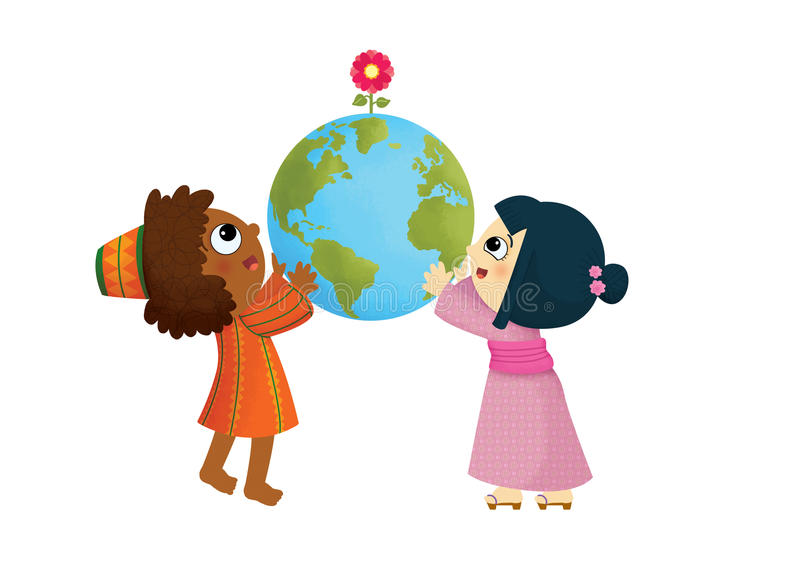 Le monde de l'enfant illustration de vecteur